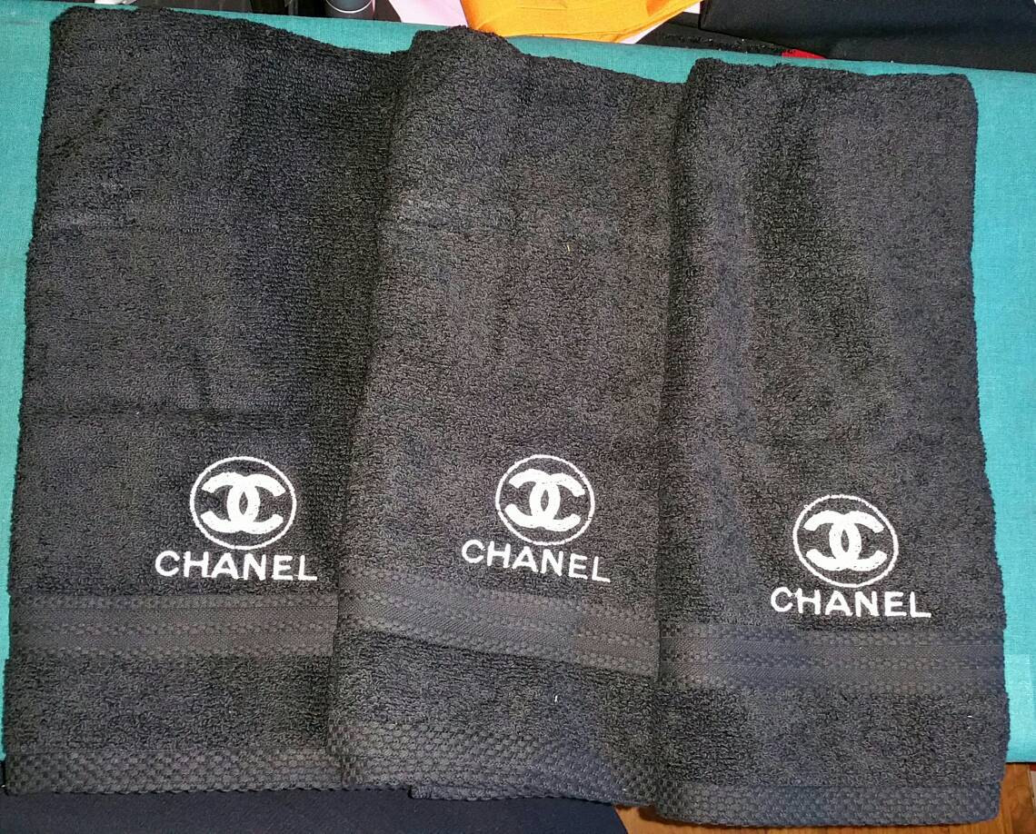 Сhanel logo embroidery design on towel