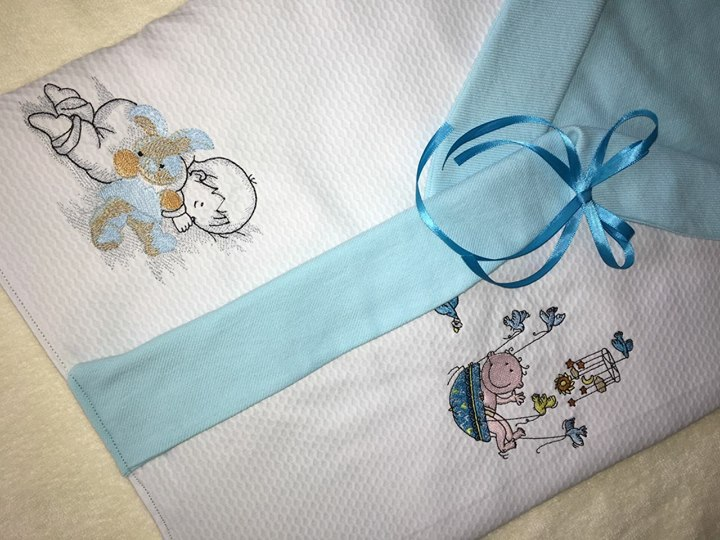 Newborn outfit with babyboy embroidery design