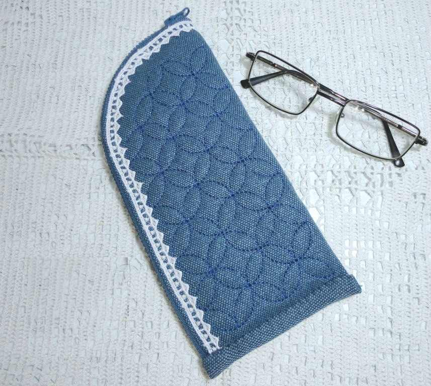 Denim cover glasses