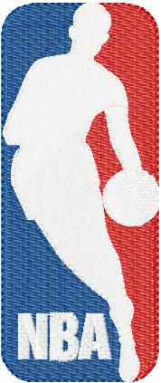 8b94a024dac21 NBA Logo embroidery design