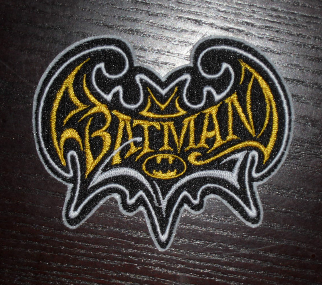 Batman modern logo design embroidered
