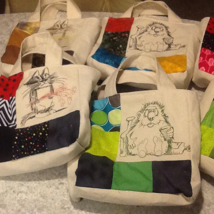 Animal designs on bags1