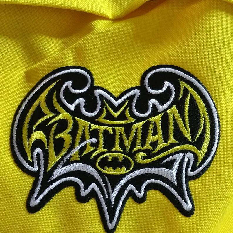 Batman vintage logo embroidered design