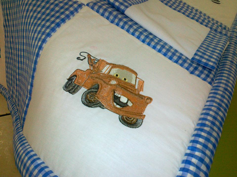 Quilt with Disney Cars Matter machine embroidery design