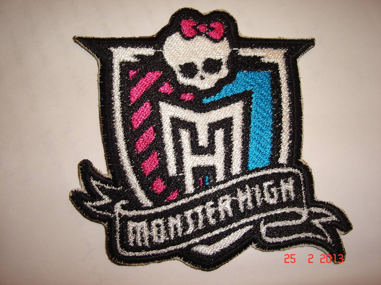 Monster High patch embroidery