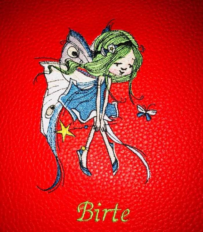 Embroidered flying fairy free design