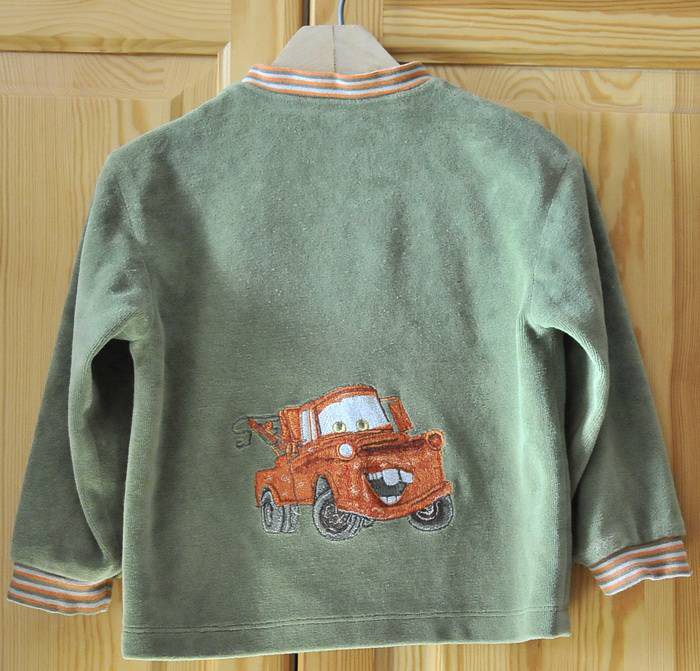 Mater Cars Disney embroidery cardigan