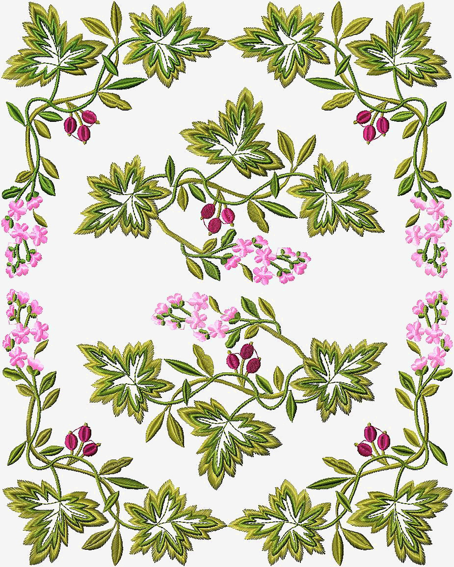 Free combination of embroidery flowers designs
