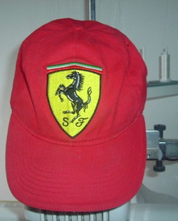 Ferrari embroidered logo design