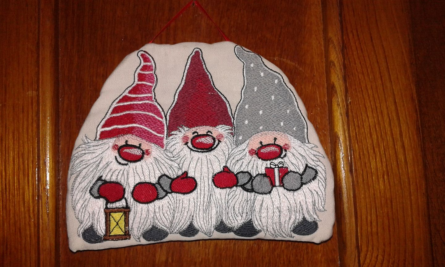Dwarves design embroidered