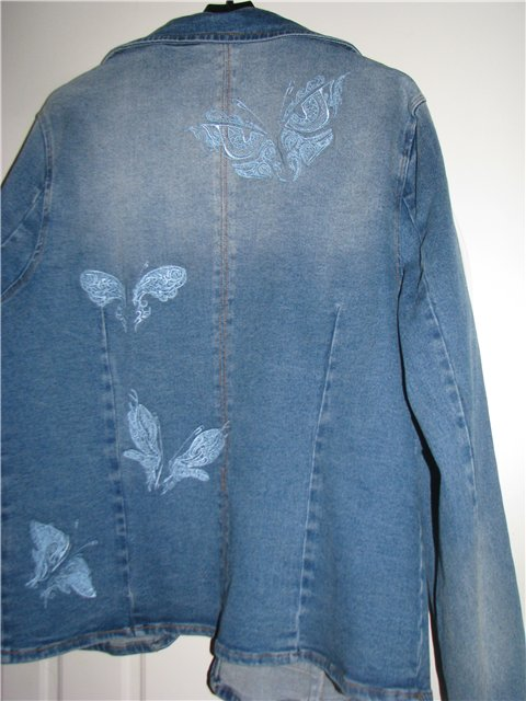 Butterflies on jacket embroidered