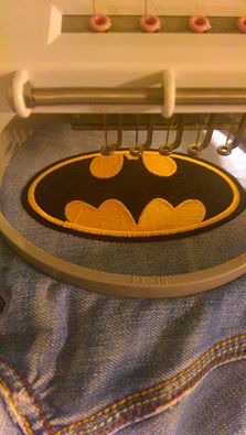 Batman logo in hoop1