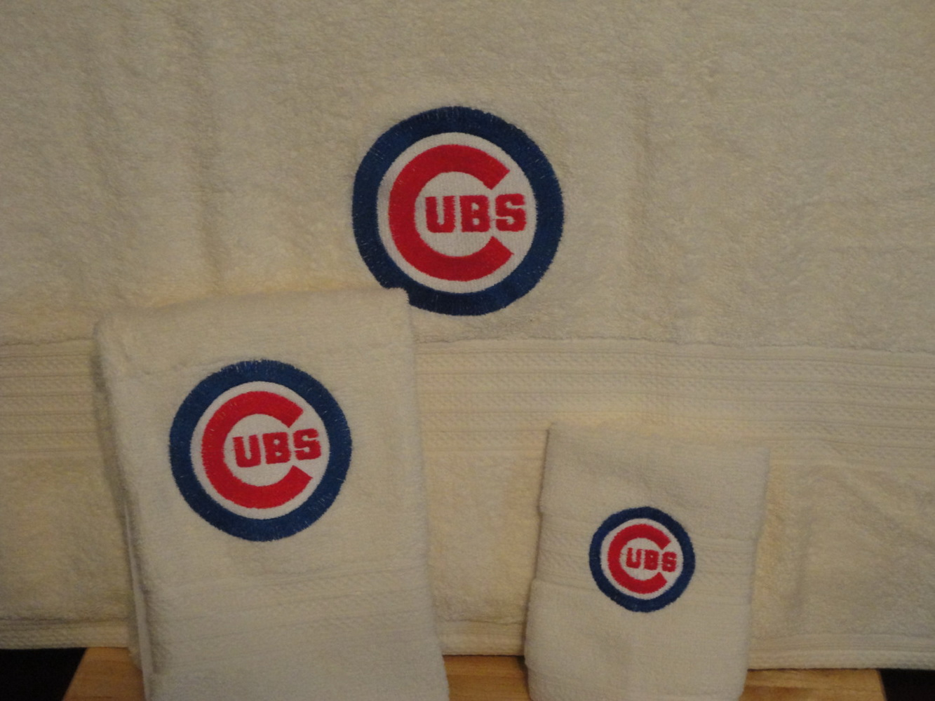 Embroidered Chicago Cubs Logo classic design on towel