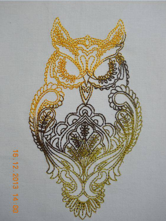 Owl embroidered