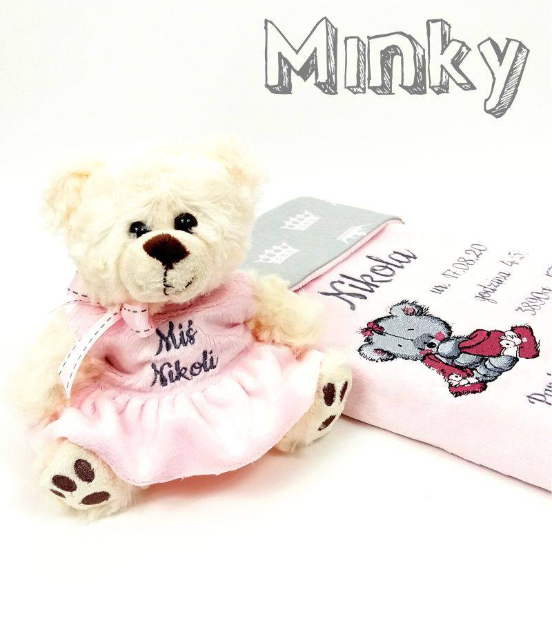 Gift set with emroidery design teddy bear