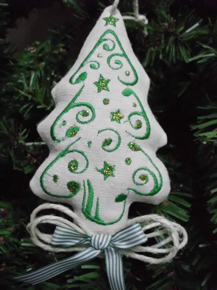 Christmas tree embroidered