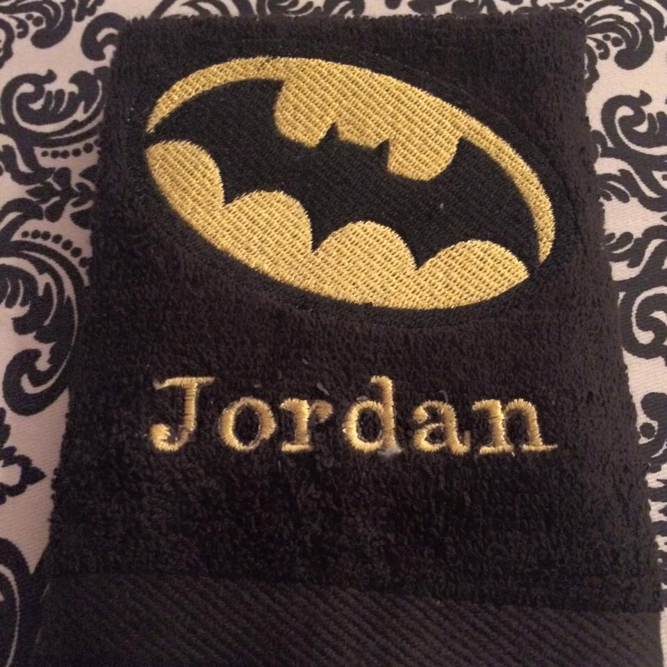 Batman logo design on towel9