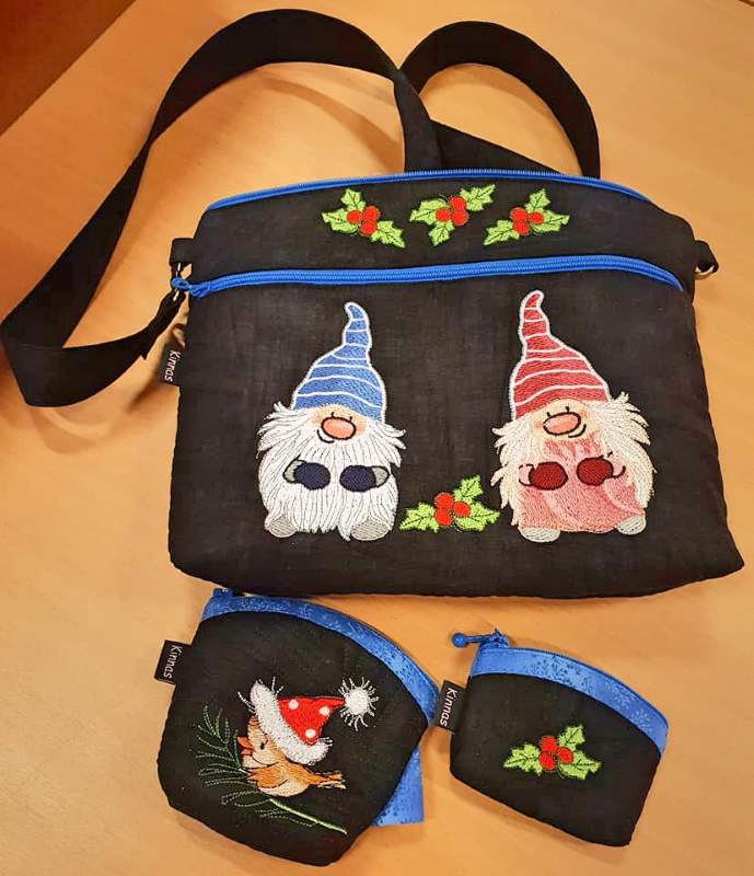 Embroidered Christmas gifts set