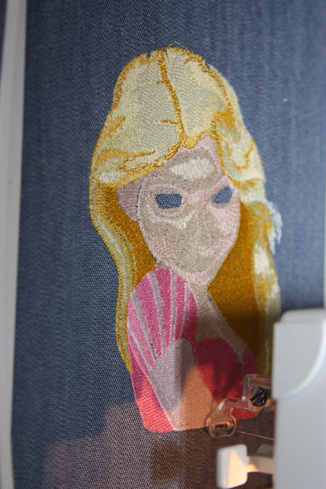 In hoop Rapunzel embroidery design