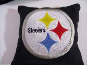 Embroidered pillowcase with Pittsburgh Steelers logo