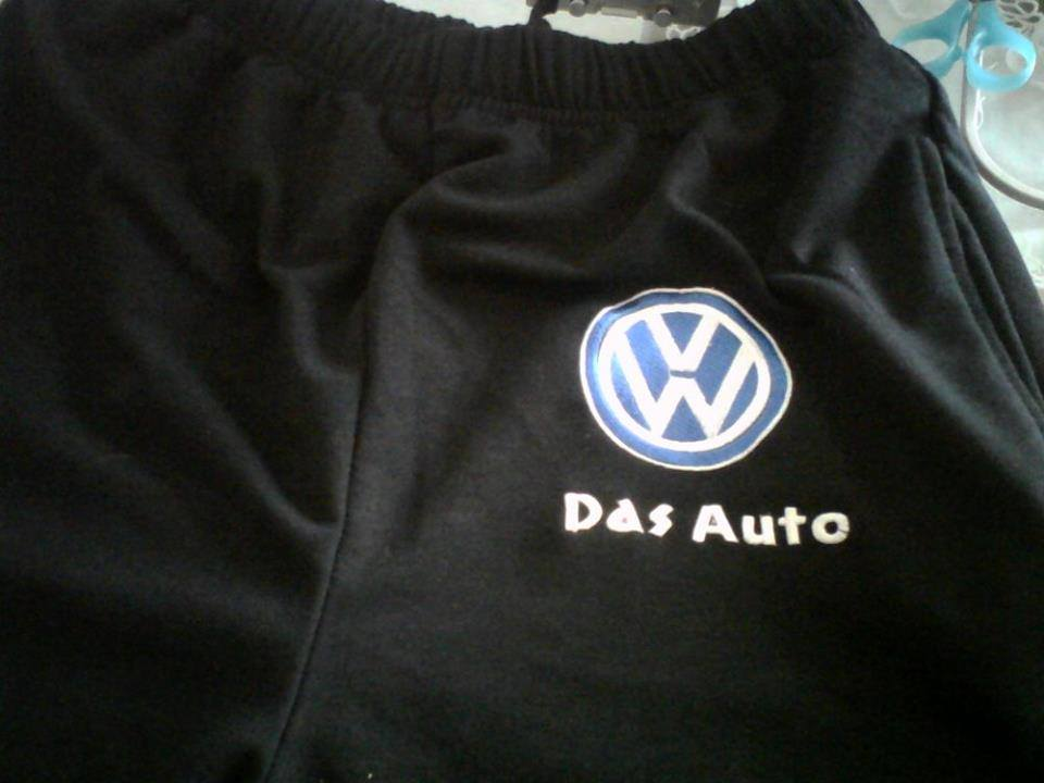 Volkswagen logo design on embroidered pants