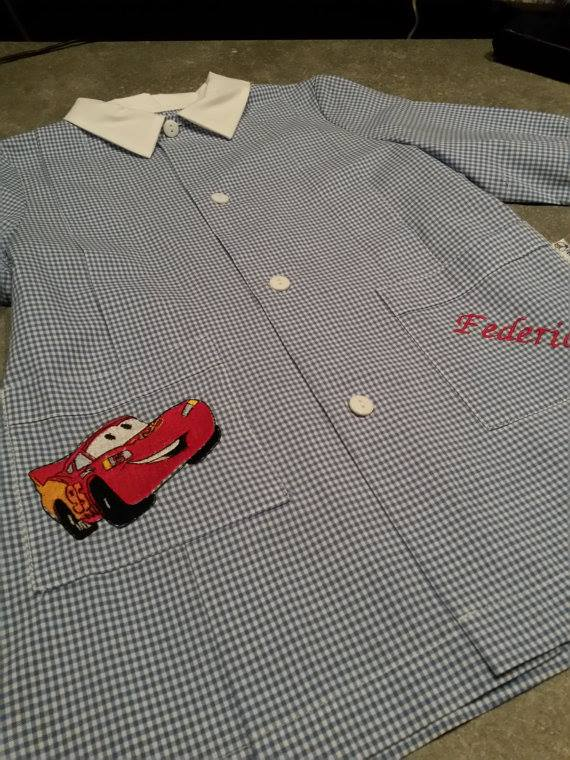 Lightning McQueen on embroidered shirt