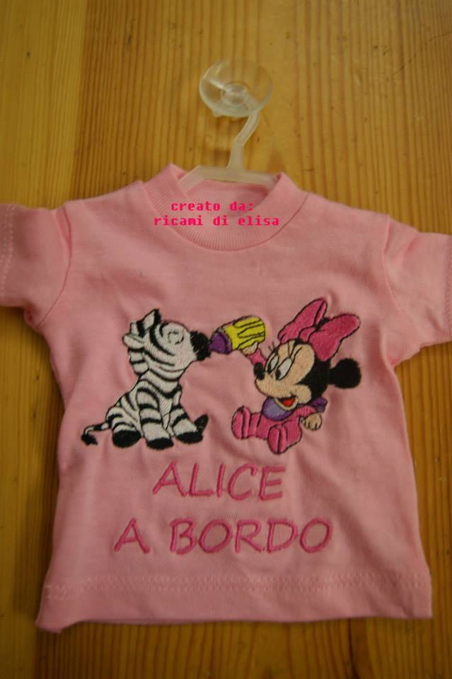 Minnie Mouse and zebra design on embroidered pink  t-shirt