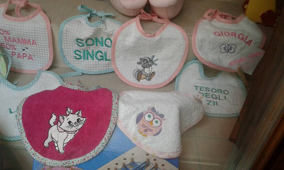 Cute embroidered baby bibs