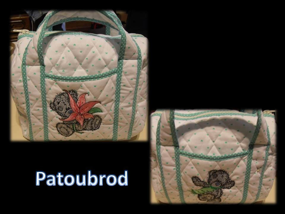 Tatty teddy designs on embroidered bag