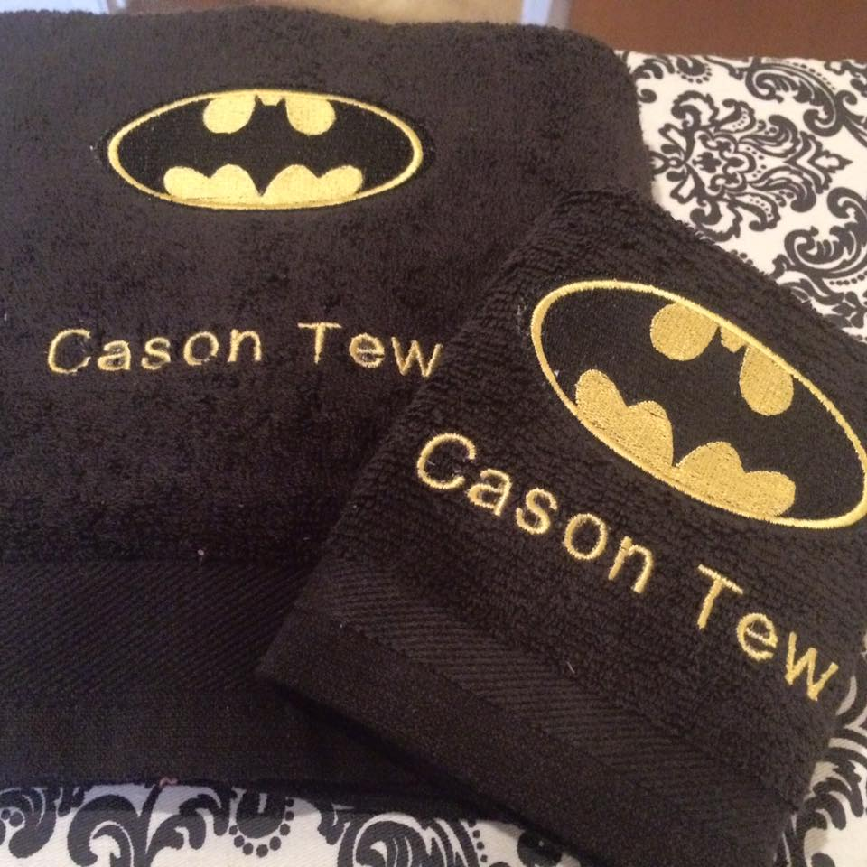 Batman logo design on towel21
