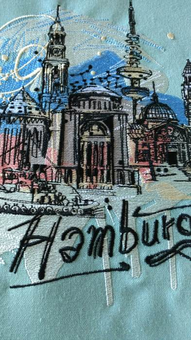 Hamburg sketch embroidery design