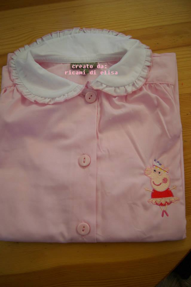 Peppa pig ballerina design on shirt2