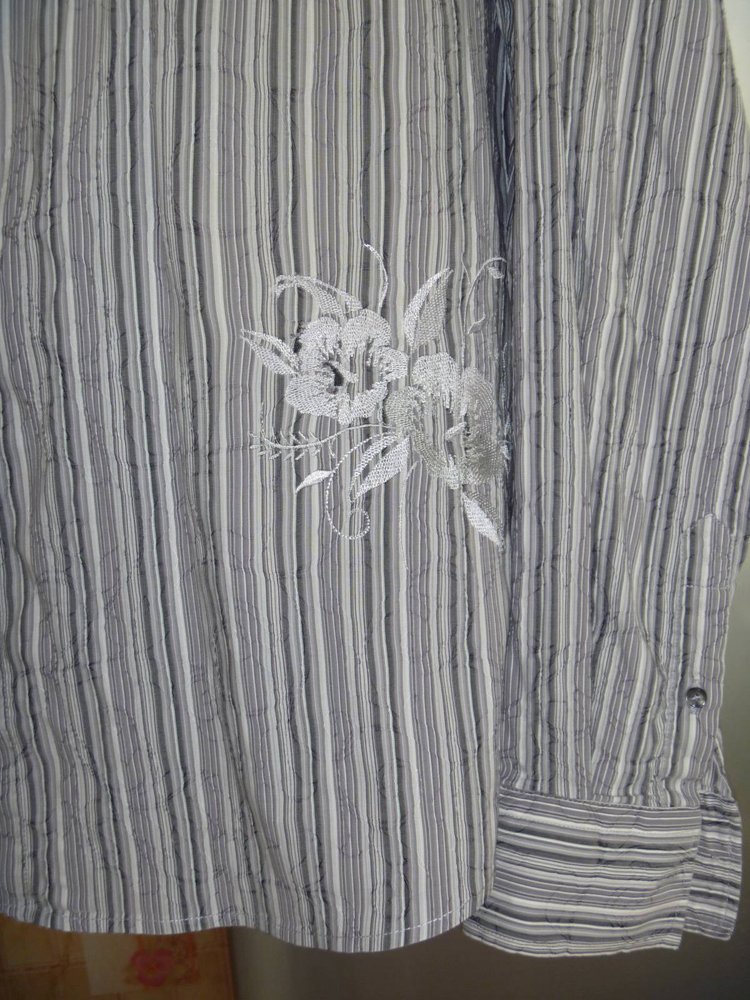 Shirt with Free flowers machine embroidery design