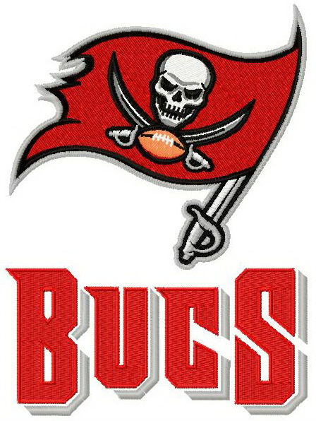 Tampa Bay Buccaneers double logo machine embroidery design