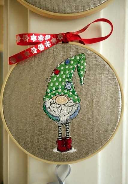 Christmas wall decoration with dwarf decoration