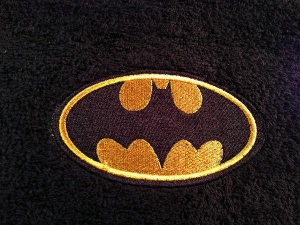 Batman logo design on towel14