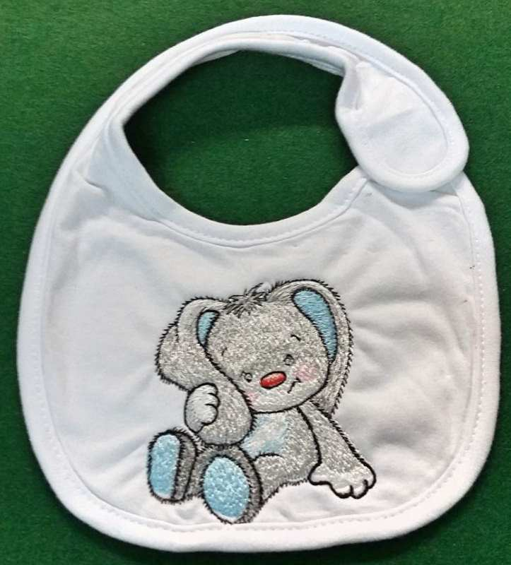 Embroidered baby bib for newborn