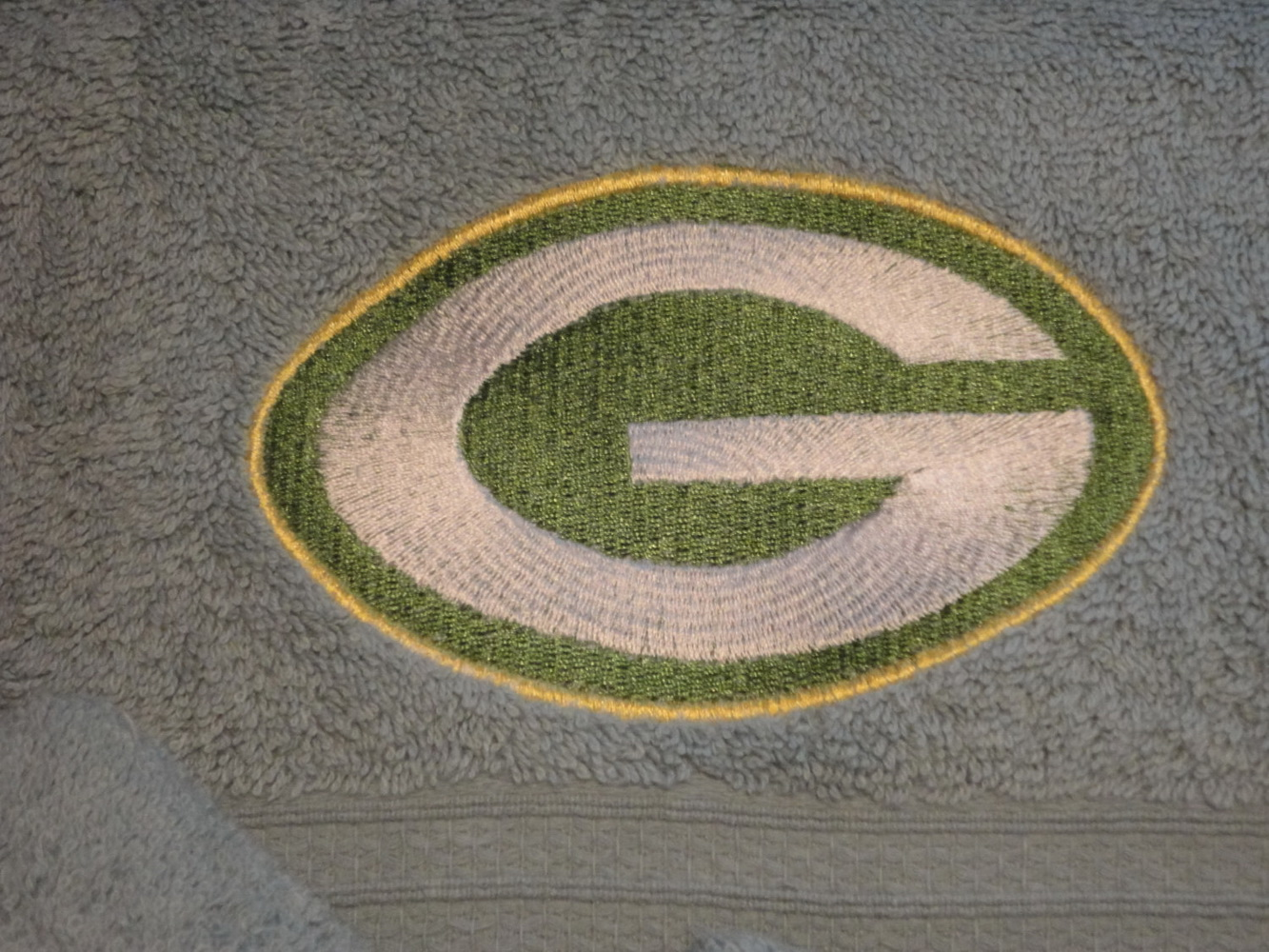 Green Bay Packers logo  on towel embroidered