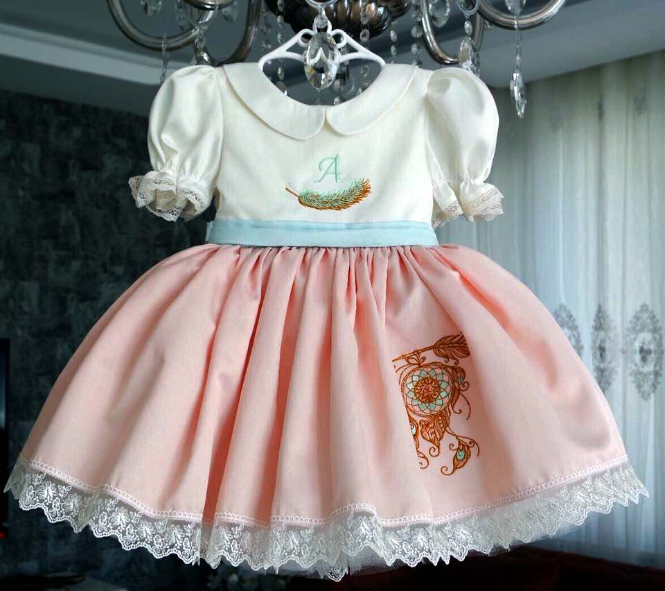 Dress with Dreamcatcher embroidery design