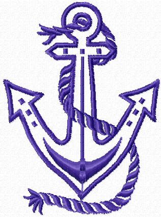 Anchor applique free embroidery design