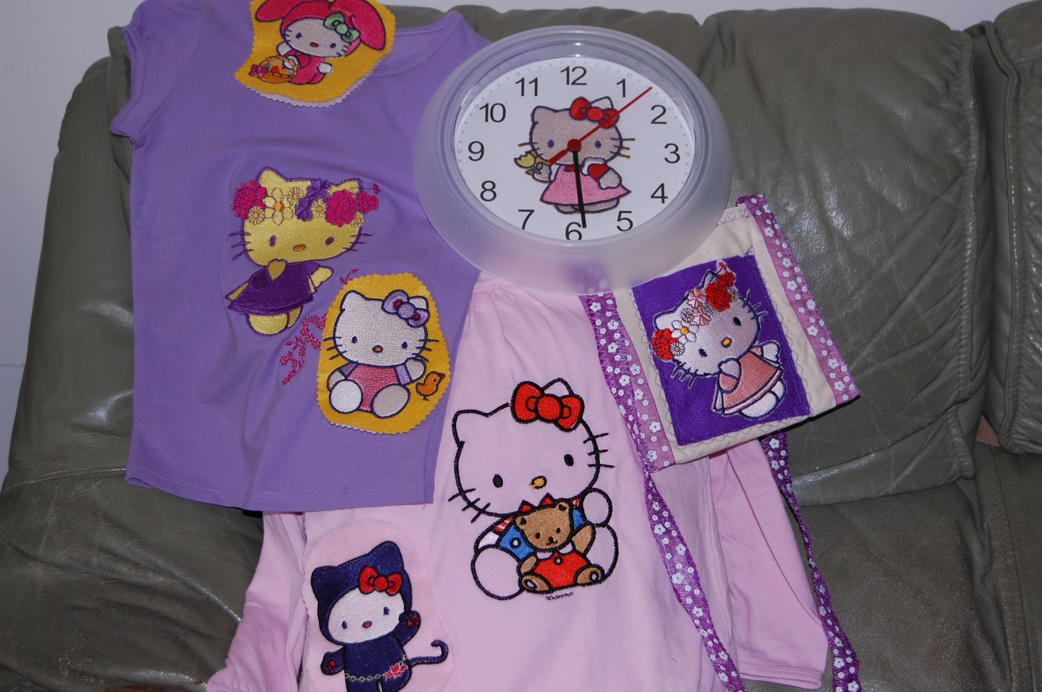 Hello Kitty design embroidered