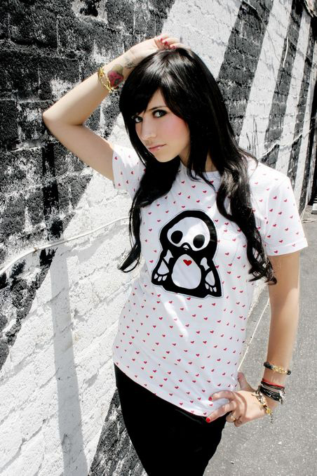 Skelanimals penguin embroidered on t-shirt