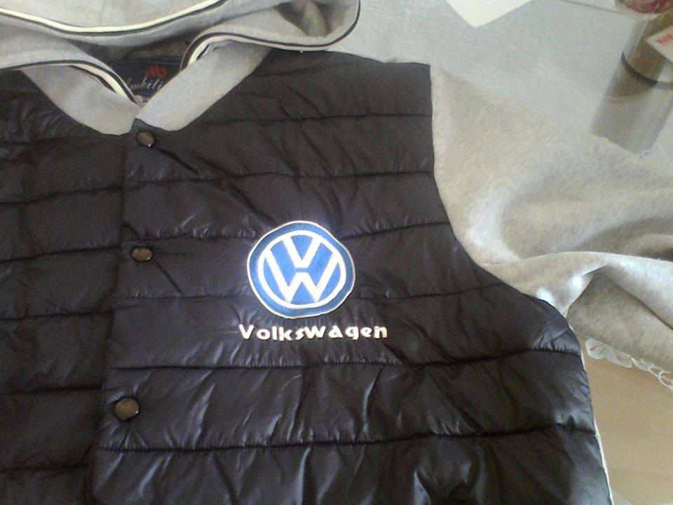 Embroidered jacket with Volkswagen logo