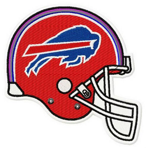 American Football helmet applique embroidery design