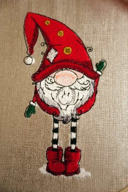 Wall decoration with Christmas gnome design