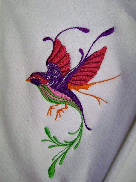 Embroidered Fantastic bird