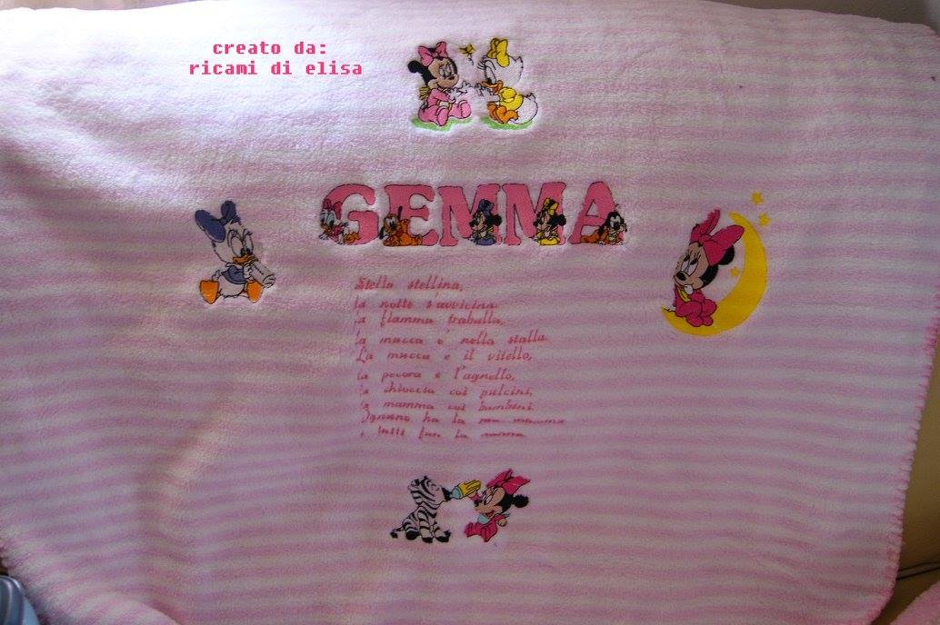 Minnie Mouse and Daisy Duck designs embroidered