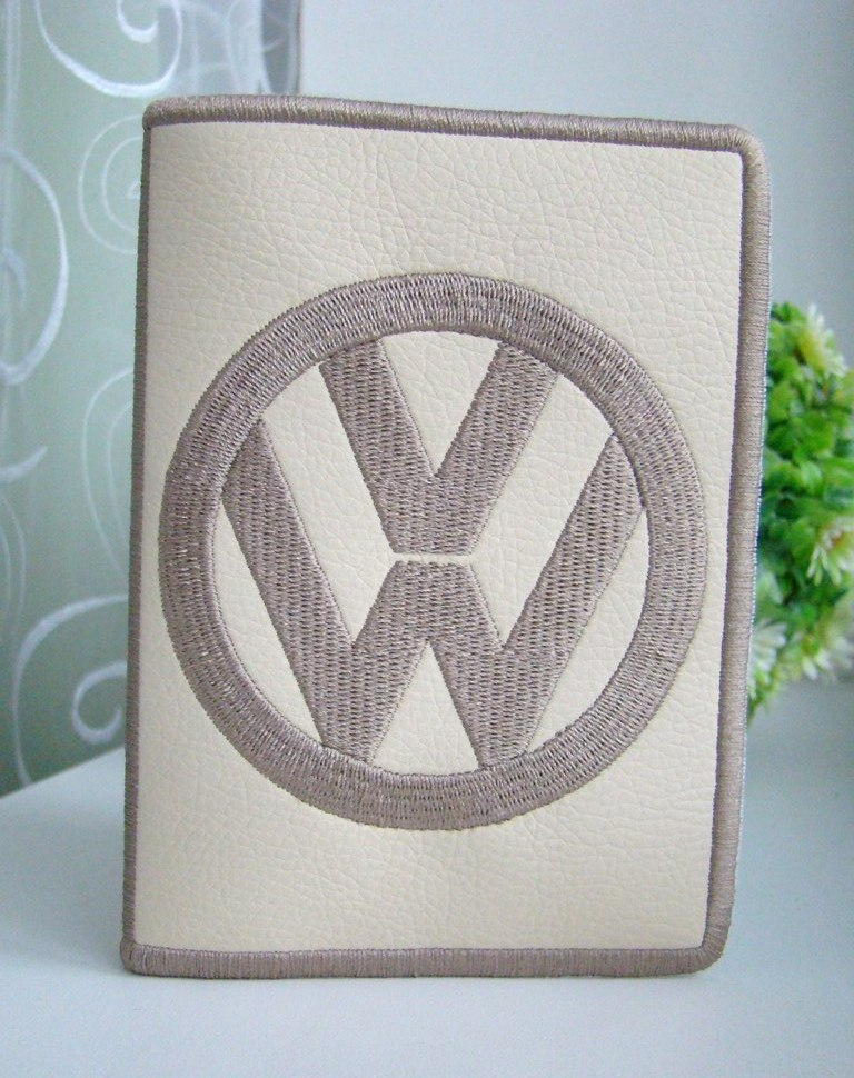 Volkswagen logo embroidery design on cover