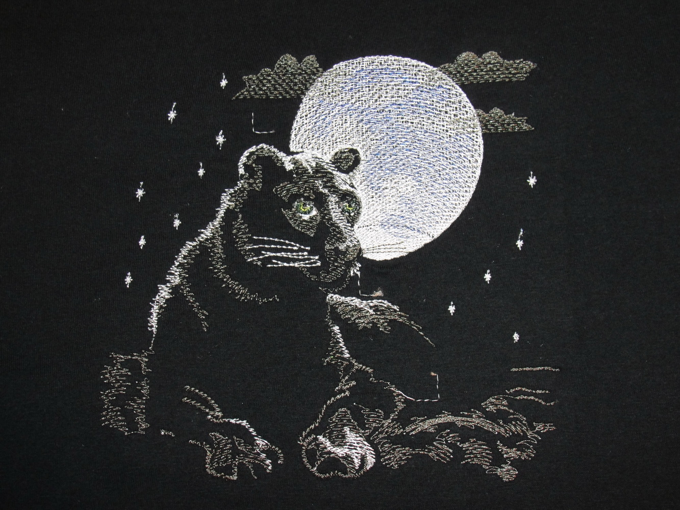 Embroidered Panther in the night