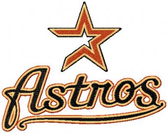 Astros Logo >> Houston Astros Logo 2 Embroidery Design